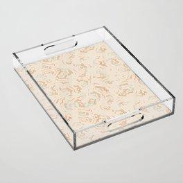 Modern African Zig-Zag Print Acrylic Tray