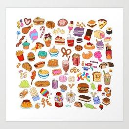 Cute food Art Print