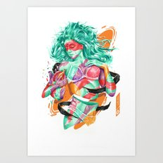 DELPHINA Art Print