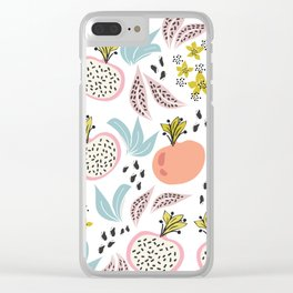 Fruits and seeds pattern! Clear iPhone Case