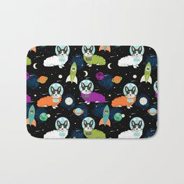 Corgi astronaut tri colored corgi space cadet outer space dog breed corgis Bath Mat