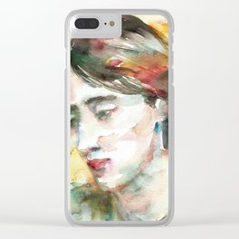 VIRGINIA WOOLF - watercolor portrait.3 Clear iPhone Case