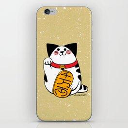 Teh as Maneki Neko Cat iPhone Skin