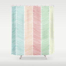 Sort of Herringbone Shower Curtain