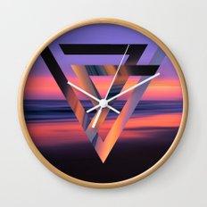 Neon Sky Wall Clock