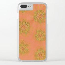 Terra Cotta Petal Rose Clear iPhone Case