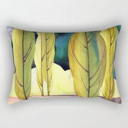 Landscape with poplar trees Rectangular Pillow