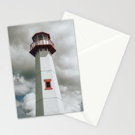 The Lighthouse in Saint Ignace Stationery Cards
