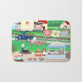 Aunt Abby's Apples Bath Mat