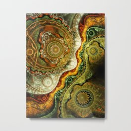 Autumn - Abstract Fractal Artwork Metal Print