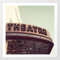 theatre Art Prints featuring Theatre by bellehibou