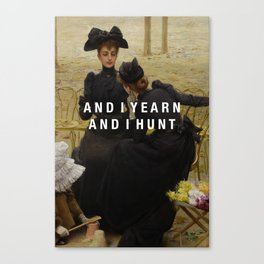 and i yearn Canvas Print