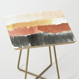 Abstract in Rust n Clay Side Table