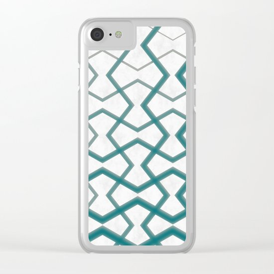 Biscay Bay Under Marbel Tiles Clear iPhone Case