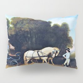 Phaeton With A Pair Of Cream Ponies And A Stable-lad - George Stubbs Pillow Sham
