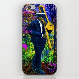 NEW ORLEANS JAZZ TROMBONE LET THE GOOD TIMES ROLL!! iPhone Skin