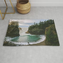 Hidden Cove on the Oregon Coast Rug