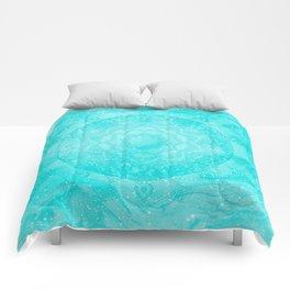 FLORAL MANDALA TURQUOISE Comforters