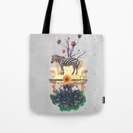 The world upside down. Tote Bag