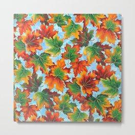 Autumn maple leaves II Metal Print