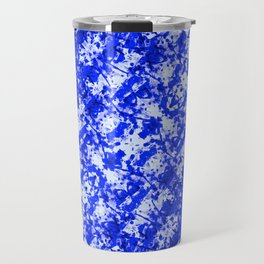 Blue and White Fluid Abstract 45 Travel Mug