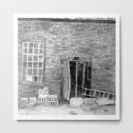 Mills Under Construction Metal Print