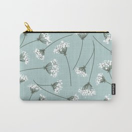 Queen Anne's Lace Floral Pattern Carry-All Pouch