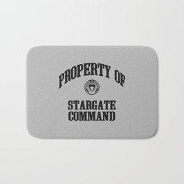 Property of Stargate Command Athletic Wear Black ink Bath Mat