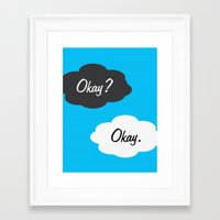 okay Framed Art Prints featuring Okay by JDODesign