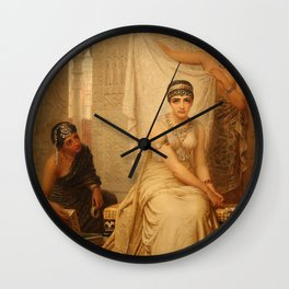 Esther by Edwin Long Wall Clock