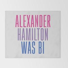 Alexander Hamilton Was Bi #2 Throw Blanket