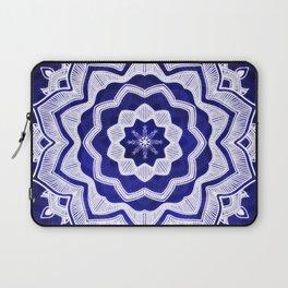 Mandala Blue Star Spiritual Zen Bohemian Hippie Yoga Mantra Meditation Laptop Sleeve