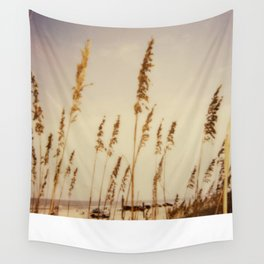 Beach Grass - Polaroid Wall Tapestry