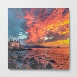 Antibes Sunrise Metal Print