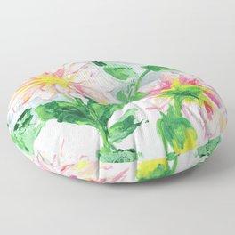 Dahlias for a cloudy day i Floor Pillow