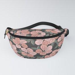 Pink Geranium Flower Pattern Fanny Pack