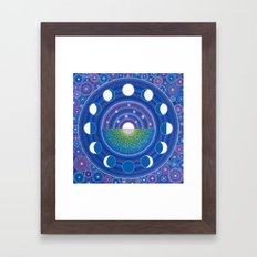 Moon Phase Mandala Framed Art Print
