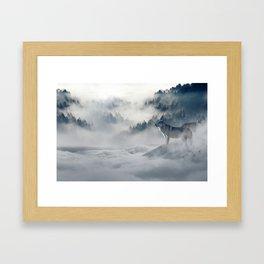 Wolves loup 2 Framed Art Print