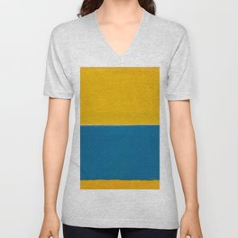 Untitled (Yellow and Blue) by Mark Rothko HD Unisex V-Neck