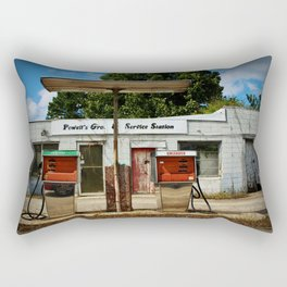 Old Service Station Rectangular Pillow