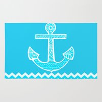 anchor Area & Throw Rugs featuring Anchor by haroulita