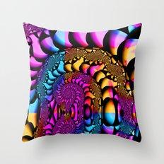Illuminated Spirals Throw Pillow