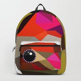 Pink hummingbird portrait Backpack