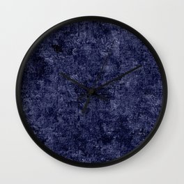 Peacoat Oil Painting Color Accent Wall Clock