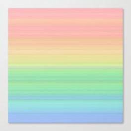 Abstract Pastel Rainbow II Pretty gradient stripes Canvas Print