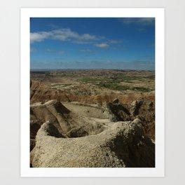 Amazing Badlands Overview Art Print