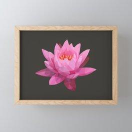 Pink Lotus Flower  Framed Mini Art Print