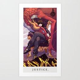 Drakengard Tarot-JUSTICE Art Print