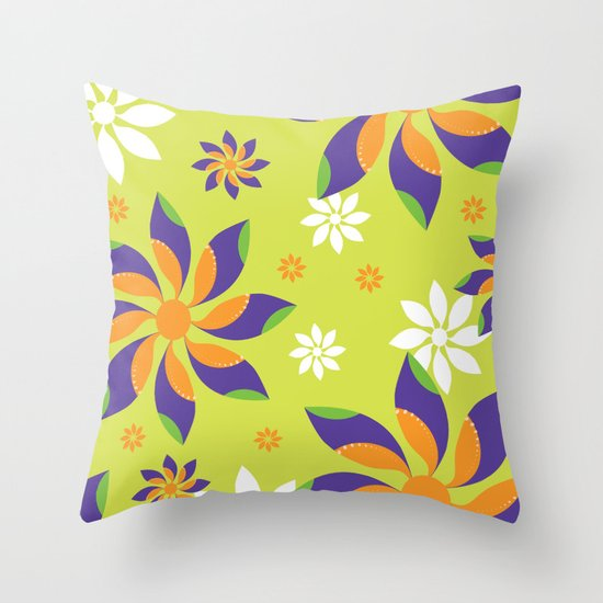 Flowerswirl Throw Pillow