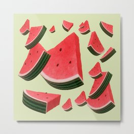 Retro Watermelon Metal Print